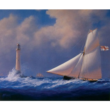 1007745 WOLF ROCK LIGHTHOUSE Signed Lithograph