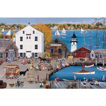 CHOWDERFEST AT LIGHTHOUSE POINT s/n Lithograph