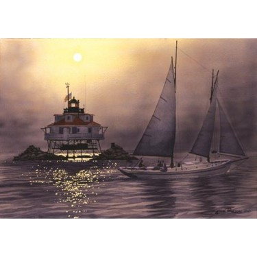 Evening Sail by Thomas Pt. G/P by John Ruseau