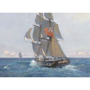 HMS FANTOME IN PURSUIT OF A SLAVER