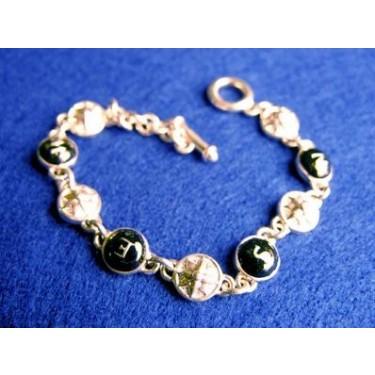 Bracelet Sterling Silver Compass w/Enamel