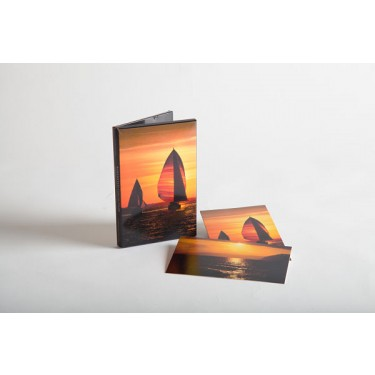 Spinnakers at Sunset/Yellow Sunset Path Notecards