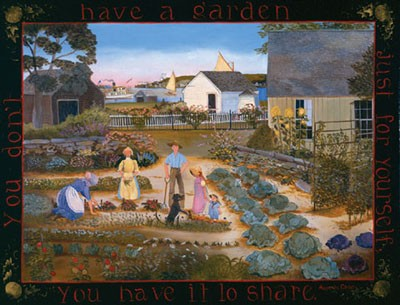 1007423 HAVE A GARDEN TO SHARE Lithograph s/n