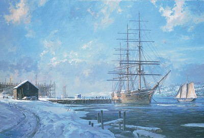 Shipbuilding Along the Kennebec - s/n Litho