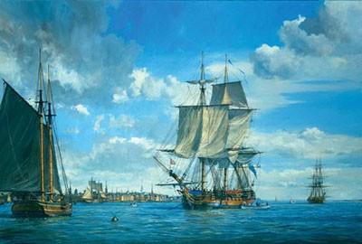 HMS ACTIVE in Boston Harbor