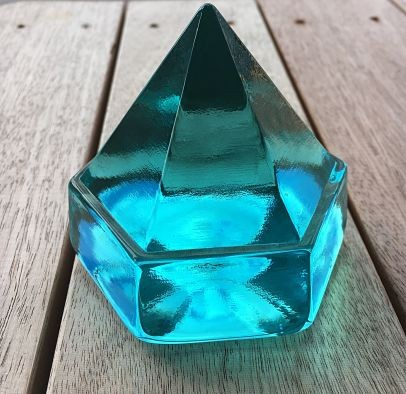 Small Turquoise Deck Prism