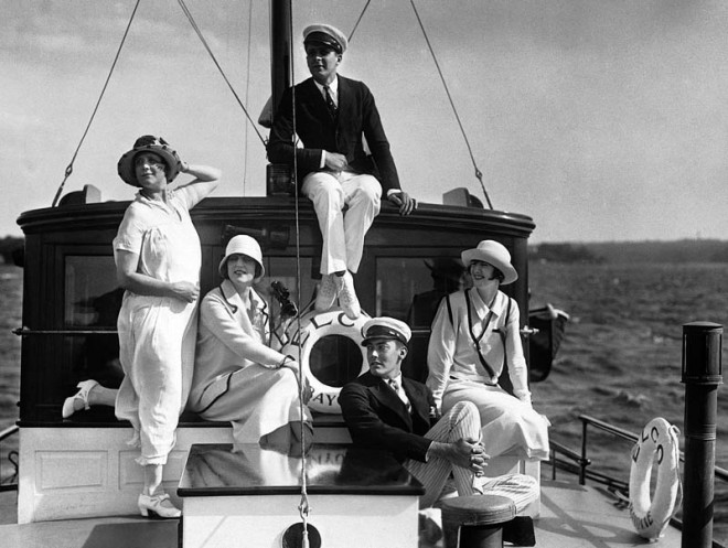 Models on the Deck of an Elco, 1926