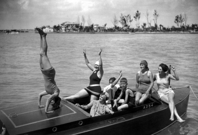 Bathing girls on BABY GAR, JR., 1927