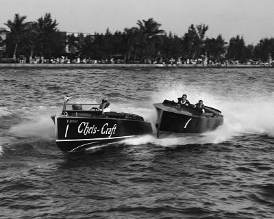 CHRIS-CRAFT and BABY GAR, Miami, Florida, 1930