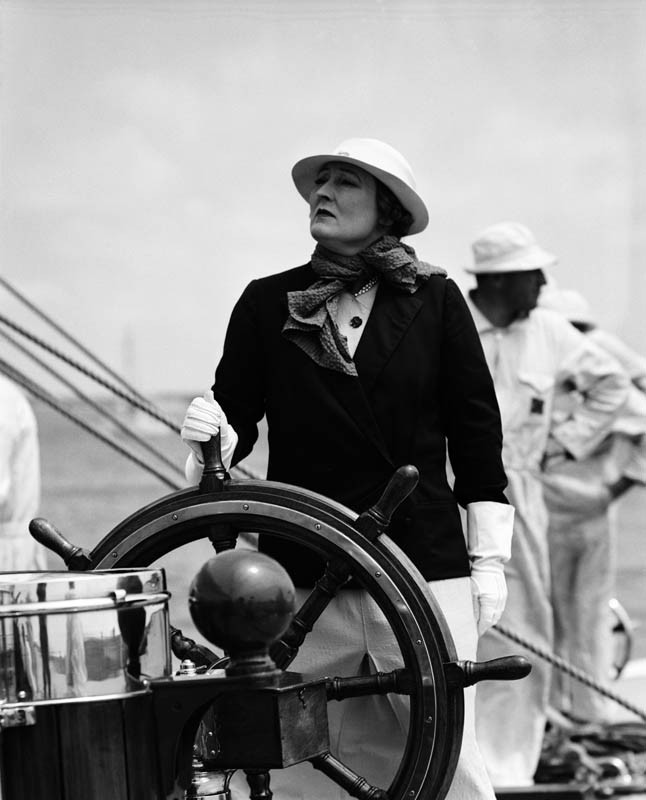 Mrs. Sopwith at the wheel, 1937