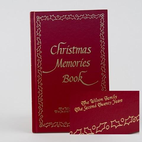 Embossed Christmas Memories Book