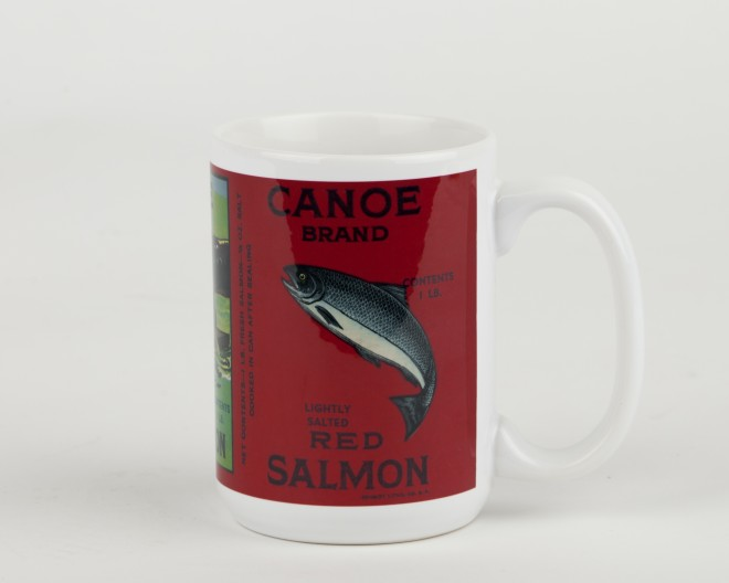 Seafood Label Mug - Salmon