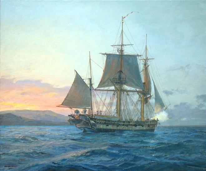 HMS BEAGLE off Galapagos