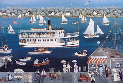 BOATING PARTY s/n Lithograph