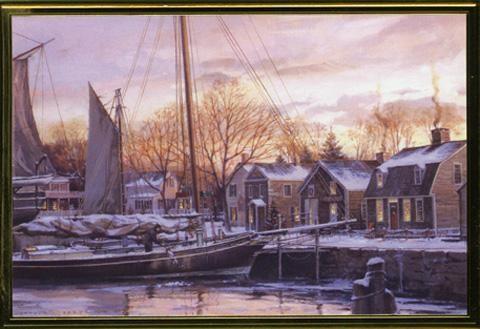 Christmas Dawn at Mystic Seaport