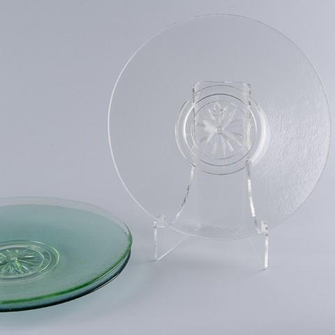Clear Compass Rose Platter