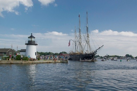 Homecoming with Mystic Seaport lighthouse