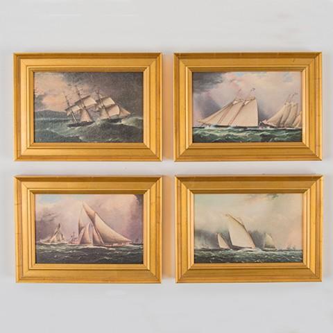 Set of Four - Framed Art Replicas