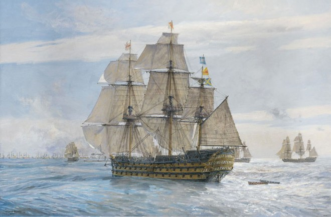 England Expects, HMS Victory - Gicleé on paper