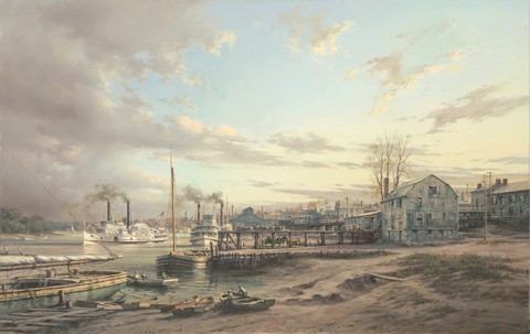 HARTFORD WATERFRONT, ca. 1888