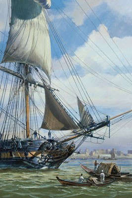 HMS SURPRISE OFF CALCUTTA