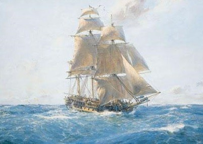 HMS Surprise Lithograph s/n by Geoff Hunt