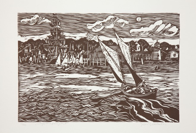 Mystic Seaport Wood Cut