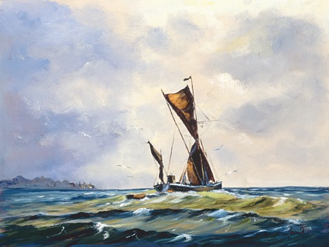 1040552 COASTAL TRADER s/n Giclee on Canvas