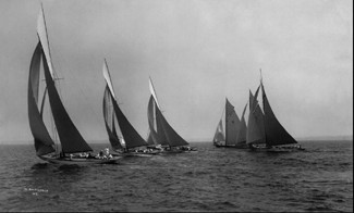 New York 50' Class start, Larchmont Yacht Club, 1913