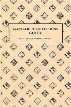 1011294 Manuscript Collections Guide G.W.Blunt White Library