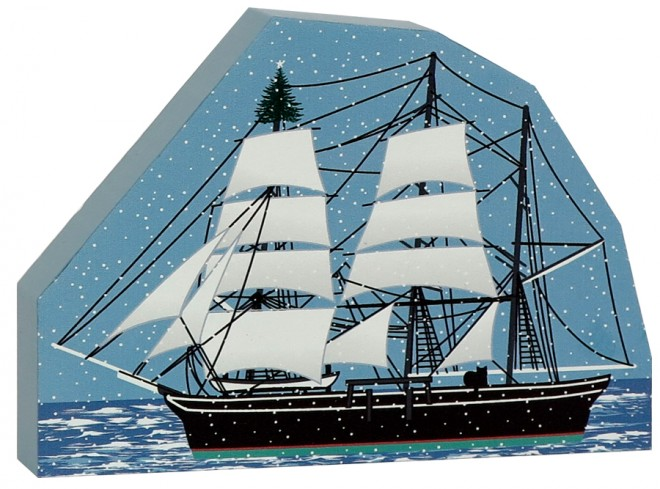 Charles W. Morgan Whaleship with Tree