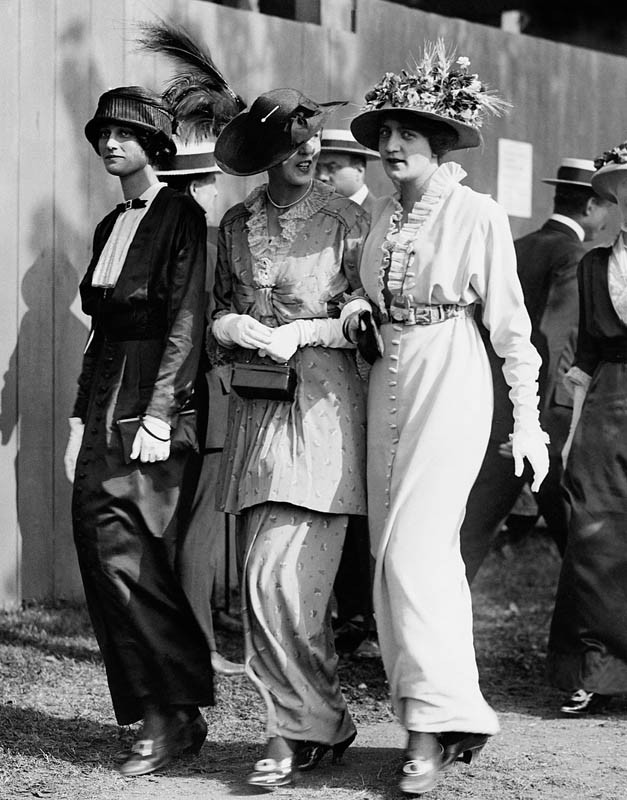 Three Women at the Polo Matches, 1916