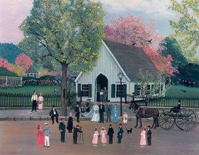 1007667 SPRING WEDDING AT MYSTIC SEAPORT s/n Lithograph