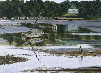 1039662 LATE SUMMER DAY CLAMMER s/n Giclee on Canvas