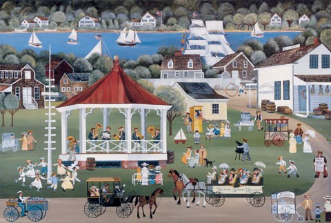 SEA MUSIC ON THE VILLAGE GREEN s/n Lithograph