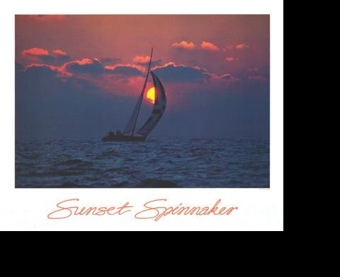 SUNSET SPINNAKER POSTER
