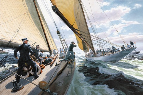 THE FOUL: America's Cup 1895 by Russ Kramer