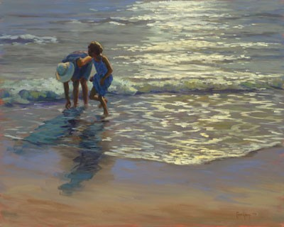 1039679 SUNLIT WAVES s/n Giclee on Canvas