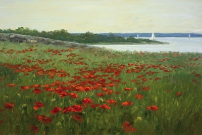 1039675 RAMBLING SEA POPPIES s/n Giclee on Canvas