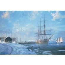 Shipbuilding Along the Kennebec - s/n Litho
