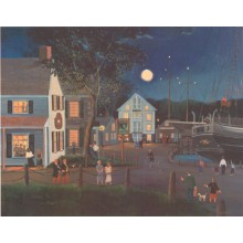 Summer Eve at Mystic Seaport s/n Litho