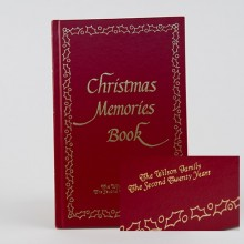 Embossed Christmas Memories Book
