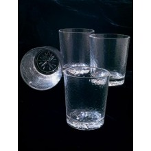 Clear Compass Rose Tumblers, Set of 4