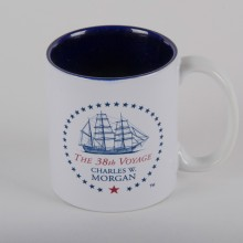 The 38th Voyage Charles W Morgan Souvenir Mug - Blue