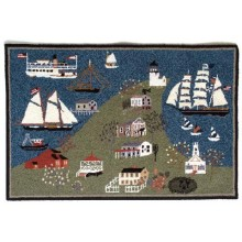 Mystic Seaport Birdseye View Rug (with CW Morgan)