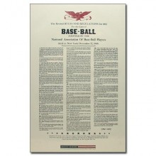 Rules of Baseball Poster