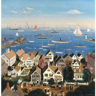 1007668 BOOTHBAY HARBOR YACHT CLUB s/n Lithograph