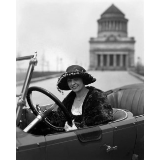 Woman in a Roamer Car, 1920