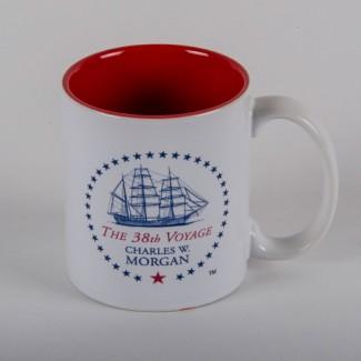 The 38th Voyage Charles W Morgan Souvenir Mug - Red