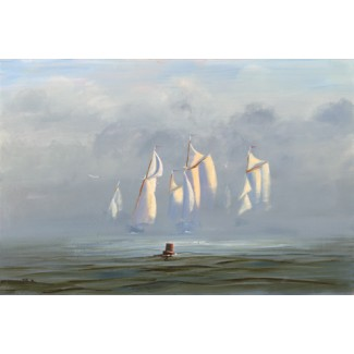 1040550 SCHOONER RACE, ROCKLAND s/n Giclee on Canvas